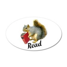 Squirrel Book Read Wall Decal