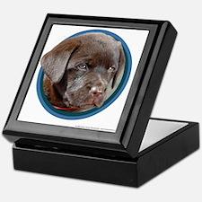 Chocolate Lab Puppy Keepsake Box