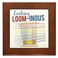 Looking Loom-inous Framed Tile