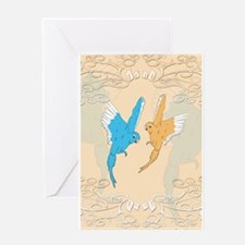 Cute budgie Greeting Cards