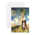 Umbrella-Aussie Shep Greeting Cards (Pk of 20)