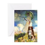 Umbrella-Aussie Shep Greeting Card