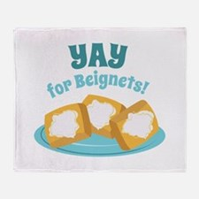 For Beignets! Throw Blanket