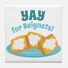 For Beignets! Tile Coaster