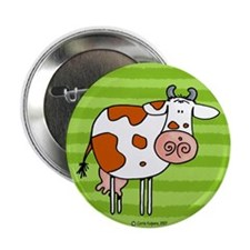 "Brown cow 2.25"" Button (10 pack)"