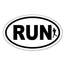 Running Runner Oval Decal