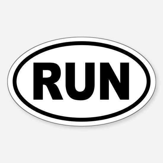 Basic Running Oval Bumper Stickers