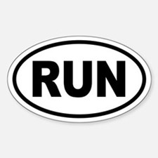 Basic Running Oval Stickers