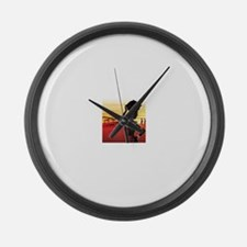 African Lady daily struggles Large Wall Clock
