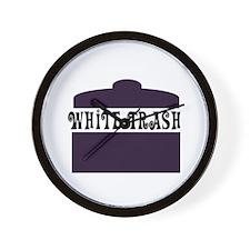 White Trash Can Wall Clock