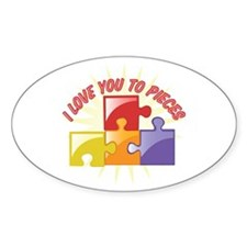 Love You To Pieces Decal