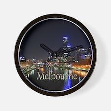 Melbourne, Victoria Australia City Ligh Wall Clock