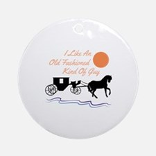 Old Fashioned Guy Ornament (Round)