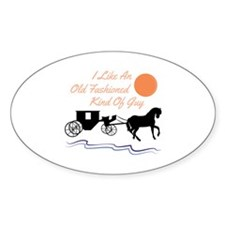 Old Fashioned Guy Decal