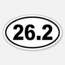 Basic Marathon Oval Bumper Stickers