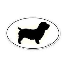 Glen of Imaal Terrier Oval Car Magnet