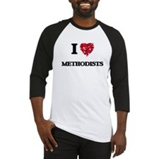 I Love Methodists Baseball Jersey