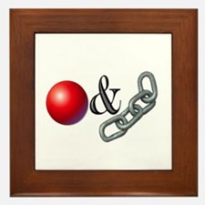 The Old Ball and Chain Framed Tile