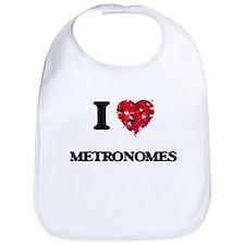I Love Metronomes Bib