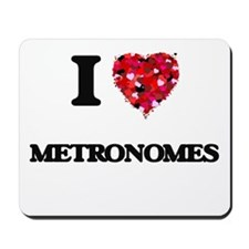 I Love Metronomes Mousepad