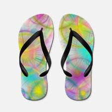 colorful circles Flip Flops