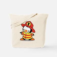 Firefighter Penguin Tote Bag