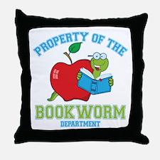 Bookworm Dept Throw Pillow
