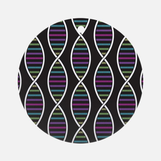 Strands of DNA Round Ornament