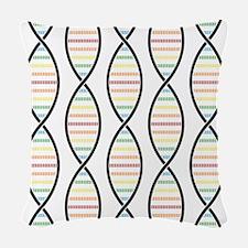 Strands of DNA Woven Throw Pillow