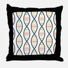 Strands of DNA Throw Pillow