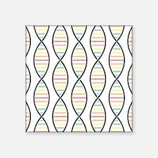 "Strands of DNA Square Sticker 3"" x 3"""