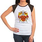 Pegado Family Crest Women's Cap Sleeve T-Shirt