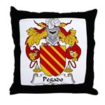 Pegado Family Crest Throw Pillow