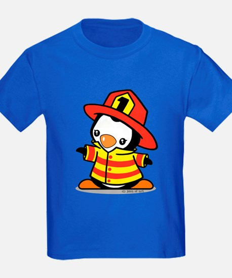 Firefighter Penguin T-Shirt