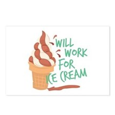 Work For Ice Cream Postcards (Package of 8)