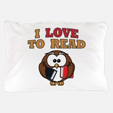 Love to Read Owl Pillow Case