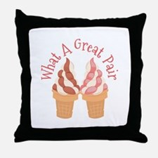 What A Great Pair Throw Pillow