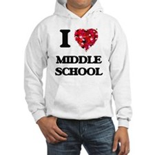 I Love Middle School Hoodie