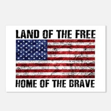 Land Of The Free,Home Of The Brave Postcards (Pack