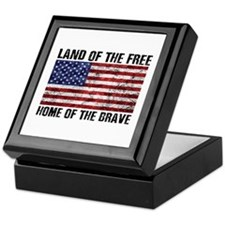 Land Of The Free,Home Of The Brave Keepsake Box