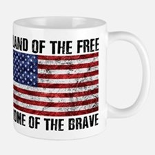 Land Of The Free,Home Of The Brave Mugs