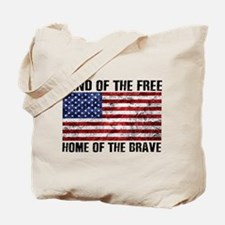 Land Of The Free,Home Of The Brave Tote Bag