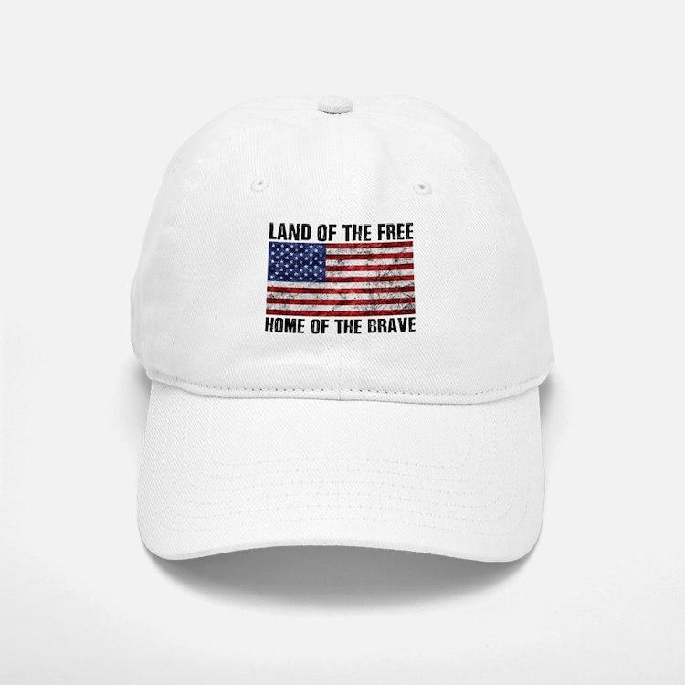 Land Of The Free,Home Of The Brave Baseball Baseball Baseball Cap