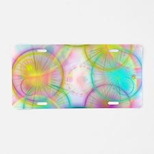 colorful circles Aluminum License Plate