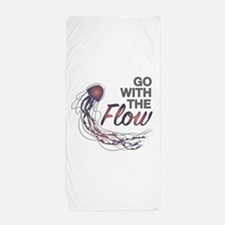 Go With The Flow Beach Towel