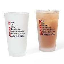 Pro America Drinking Glass