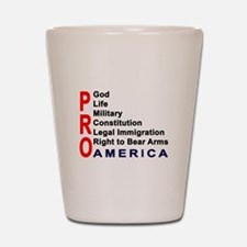 Pro America Shot Glass
