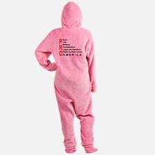 Pro America Women's Footed Pajamas