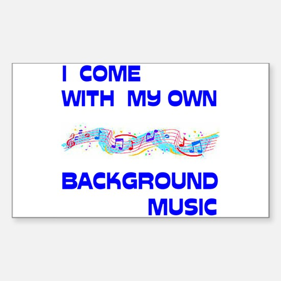 BACKGROUND MUSIC Rectangle Decal
