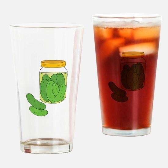 Pickle Jar Drinking Glass